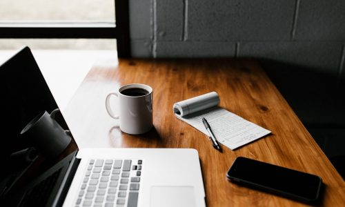 Coffee Cup Blog Essentials Writer Pen Paper Phone