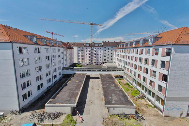 Fertigstellung der Dachausbauten