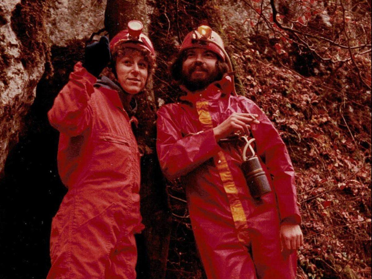 Vor einer Höhlentour im Altmühltal: Ulla Basler und Willi Müller-Basler