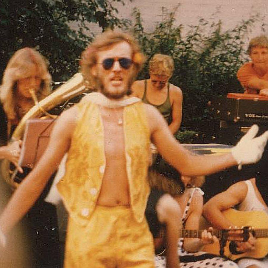 Auftritt als Sänger beim Straßenfest 1984